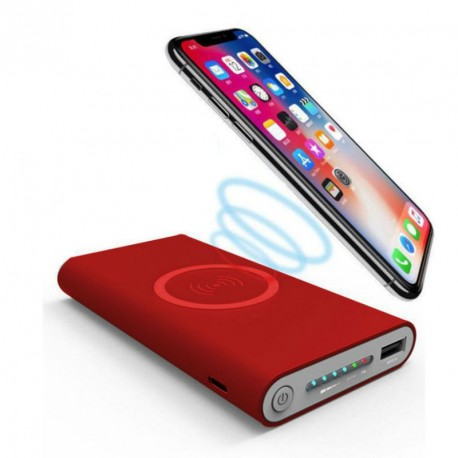 Power Bank - 10000mah - sans Fil - Rouge